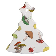 Mushrooms Pattern 02 Christmas Tree Ornament (2 Sides) by Famous