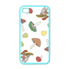 Mushrooms Pattern 02 Apple Iphone 4 Case (color) by Famous