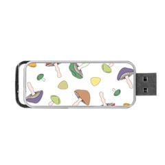 Mushrooms Pattern 02 Portable Usb Flash (one Side) by Famous