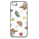 Mushrooms Pattern 02 Apple iPhone 5 Seamless Case (Black) Front