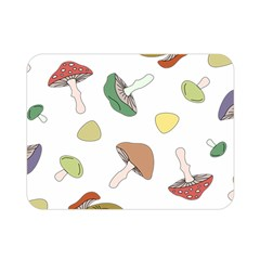 Mushrooms Pattern 02 Double Sided Flano Blanket (mini)  by Famous