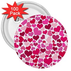 Heart 2014 0933 3  Buttons (100 Pack)  by JAMFoto
