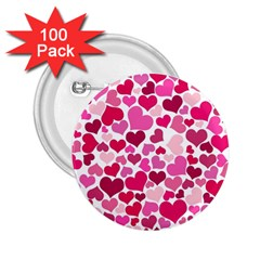 Heart 2014 0933 2 25  Buttons (100 Pack)