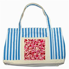 Heart 2014 0933 Striped Blue Tote Bag