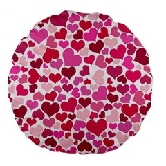 Heart 2014 0933 Large 18  Premium Flano Round Cushions by JAMFoto