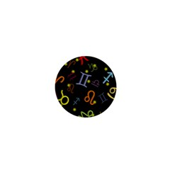 All Floating Zodiac Signs 1  Mini Buttons by theimagezone