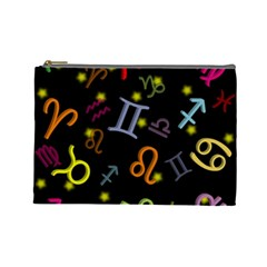 All Floating Zodiac Signs Cosmetic Bag (large)  by theimagezone