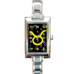 Taurus Floating Zodiac Sign Rectangle Italian Charm Watches by theimagezone