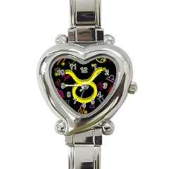 Taurus Floating Zodiac Sign Heart Italian Charm Watch by theimagezone