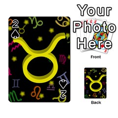 Taurus Floating Zodiac Sign Playing Cards 54 Designs  by theimagezone