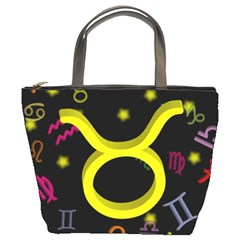 Taurus Floating Zodiac Sign Bucket Bags by theimagezone