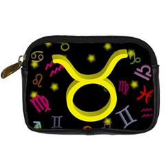 Taurus Floating Zodiac Sign Digital Camera Cases by theimagezone