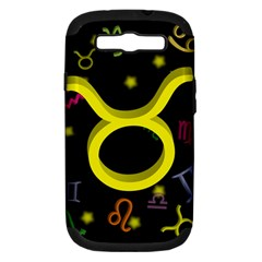 Taurus Floating Zodiac Sign Samsung Galaxy S Iii Hardshell Case (pc+silicone) by theimagezone