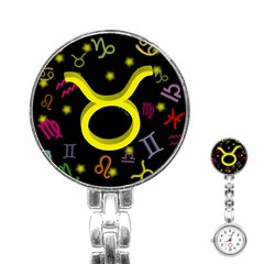 Taurus Floating Zodiac Sign Stainless Steel Nurses Watches by theimagezone