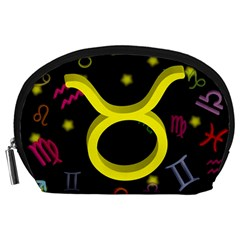 Taurus Floating Zodiac Sign Accessory Pouches (large)  by theimagezone