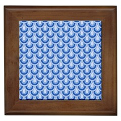 Awesome Retro Pattern Blue Framed Tiles by ImpressiveMoments