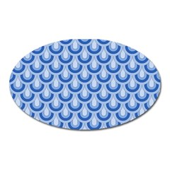 Awesome Retro Pattern Blue Oval Magnet by ImpressiveMoments