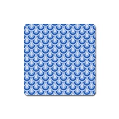Awesome Retro Pattern Blue Square Magnet by ImpressiveMoments