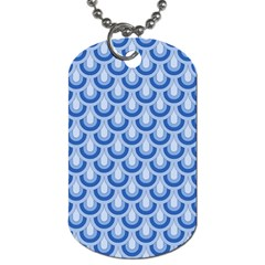 Awesome Retro Pattern Blue Dog Tag (two Sides) by ImpressiveMoments