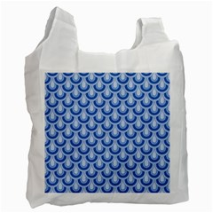 Awesome Retro Pattern Blue Recycle Bag (one Side) by ImpressiveMoments
