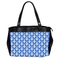Awesome Retro Pattern Blue Office Handbags (2 Sides)  by ImpressiveMoments