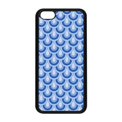 Awesome Retro Pattern Blue Apple Iphone 5c Seamless Case (black) by ImpressiveMoments