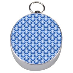 Awesome Retro Pattern Blue Silver Compasses by ImpressiveMoments