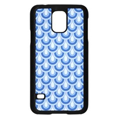 Awesome Retro Pattern Blue Samsung Galaxy S5 Case (black) by ImpressiveMoments