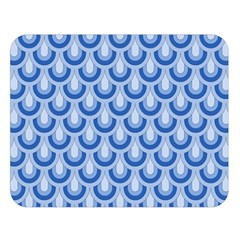 Awesome Retro Pattern Blue Double Sided Flano Blanket (large)  by ImpressiveMoments
