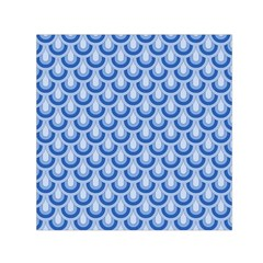 Awesome Retro Pattern Blue Small Satin Scarf (square)