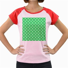 Awesome Retro Pattern Green Women s Cap Sleeve T Shirt by ImpressiveMoments