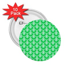 Awesome Retro Pattern Green 2 25  Buttons (10 Pack)  by ImpressiveMoments