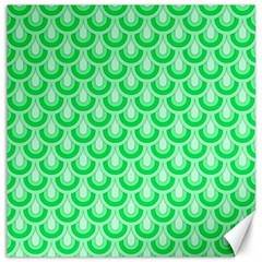 Awesome Retro Pattern Green Canvas 16  X 16   by ImpressiveMoments