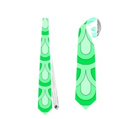 Awesome Retro Pattern Green Neckties (one Side)  by ImpressiveMoments