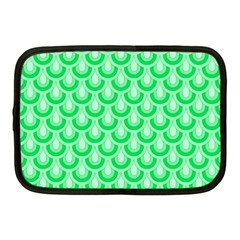 Awesome Retro Pattern Green Netbook Case (medium)  by ImpressiveMoments