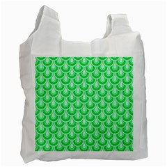 Awesome Retro Pattern Green Recycle Bag (two Side)  by ImpressiveMoments