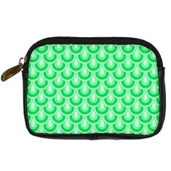 Awesome Retro Pattern Green Digital Camera Cases by ImpressiveMoments