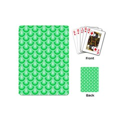 Awesome Retro Pattern Green Playing Cards (mini)  by ImpressiveMoments