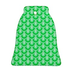 Awesome Retro Pattern Green Ornament (bell)  by ImpressiveMoments