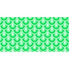 Awesome Retro Pattern Green You Are Invited 3d Greeting Card (8x4)  by ImpressiveMoments