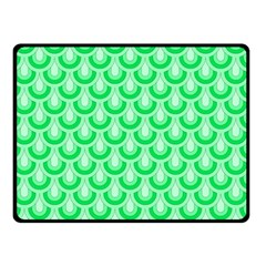 Awesome Retro Pattern Green Double Sided Fleece Blanket (small)  by ImpressiveMoments