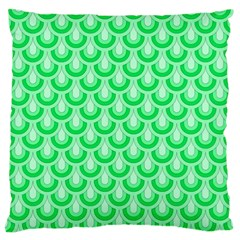 Awesome Retro Pattern Green Standard Flano Cushion Cases (one Side)  by ImpressiveMoments