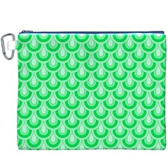 Awesome Retro Pattern Green Canvas Cosmetic Bag (xxxl)  by ImpressiveMoments