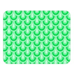 Awesome Retro Pattern Green Double Sided Flano Blanket (large)  by ImpressiveMoments