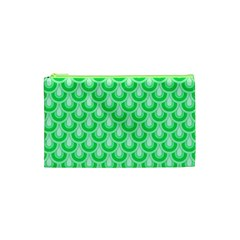 Awesome Retro Pattern Green Cosmetic Bag (xs) by ImpressiveMoments