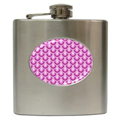 Awesome Retro Pattern Lilac Hip Flask (6 Oz) by ImpressiveMoments