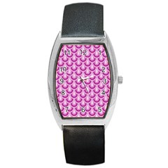Awesome Retro Pattern Lilac Barrel Metal Watches by ImpressiveMoments