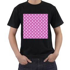 Awesome Retro Pattern Lilac Men s T Shirt (black) (two Sided) by ImpressiveMoments