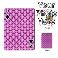 Awesome Retro Pattern Lilac Playing Cards 54 Designs