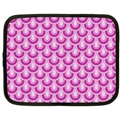Awesome Retro Pattern Lilac Netbook Case (large) by ImpressiveMoments